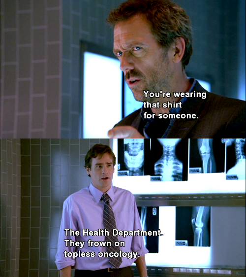 aurayafrost:  You can't hate House/Wilson banter