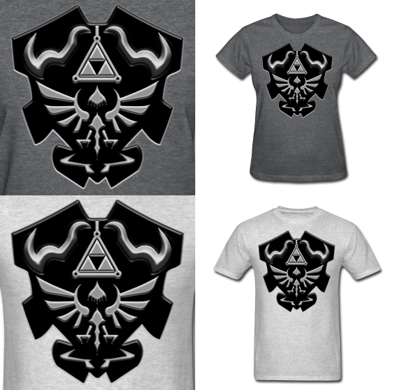 fuckyeahocarinaoftime:  LOZ DARK LINK BLACK/SILVER the black and silver version of Dark Link's shield. get yours here.
