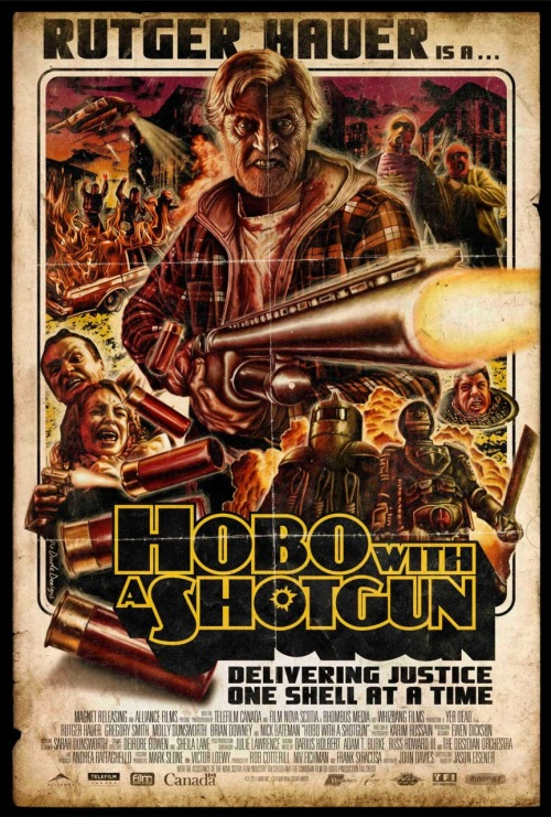 brendenjones:  Hobo With Shotgun (2011) You know this is Canadian when Ricky from Trailer Park Boys shows up before even the five minute mark.
