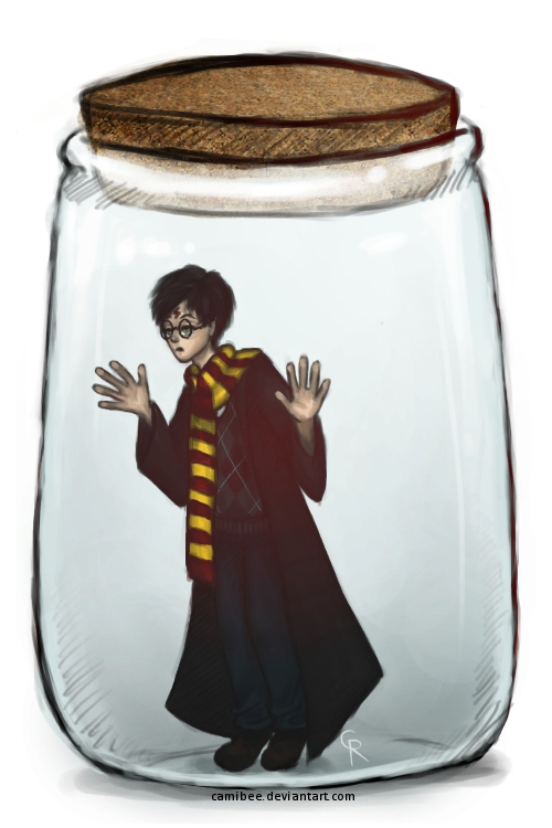 Potter in a Jar. How did Harry get himself in a jar? I blame the nargles.