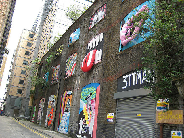 Tate Modern : Street art trail : Boar Gardens by mishumishi on Flickr.