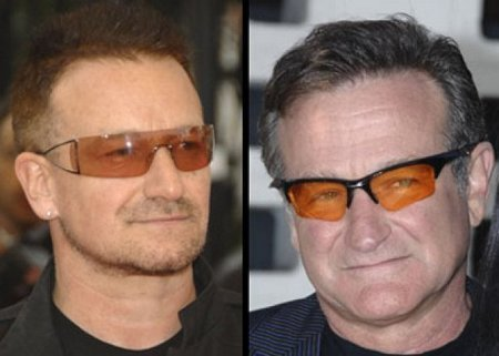 Doppelganger Alert Bono and Robin Williams