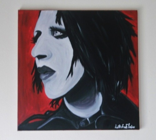 Finally Finished my Manson Painting will be on ebay over the next week.
