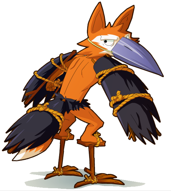 """""""Foxo the Crowfox is a monster."""""""