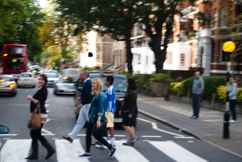 Attempt 1 of crossing 'that' crossing.  Abbey Road.