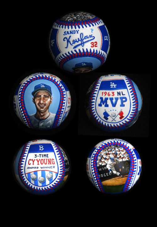 Sandy Koufax hand-painted baseball.