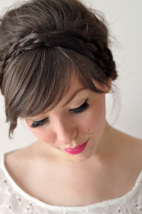 Braided Do' | Keiko Lynn This style combines two of my favourite hair styles - the 'bump' and the braid! I just love beauty tutorials and Keiko has some amazing ones. I'm thinking I need to start a beauty DIY blog. That would make… four blogs. Though the Wedding one I don't maintain, I suck. I should just delete it. Would y'all like a beauty DIY blog?