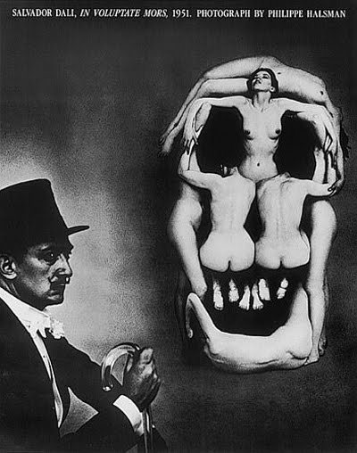 "Salvador Dali: ""In Voluptate Mors"" photo by Philippe Halsman 1951"