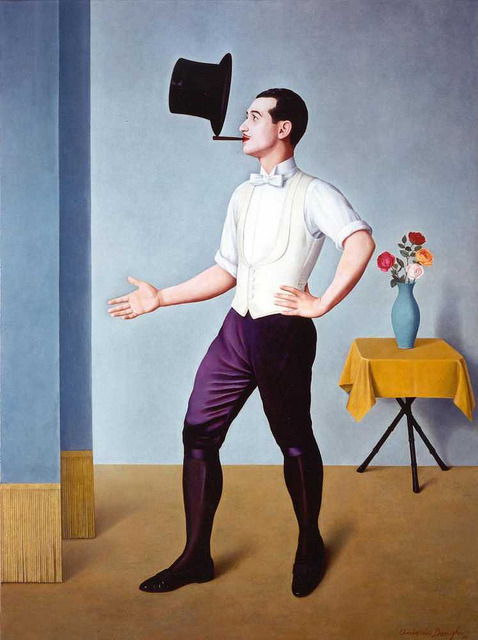 sugarmeows:  The Juggler – Antonio Donghi (1897–1963)