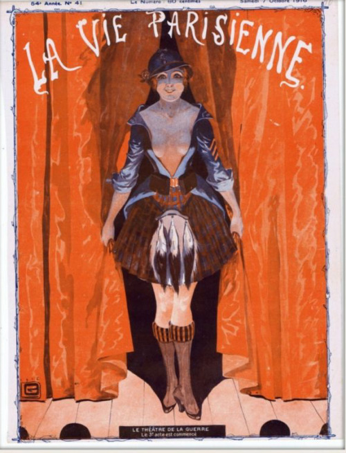 drakecaperton:  La Vie Parisienne October 7, 1916 Cover by Leonnec