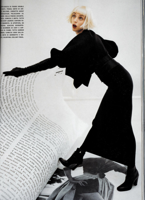canadianvogue:  Hannelore Knuts by Tim Walker in Vogue Italia December 2005