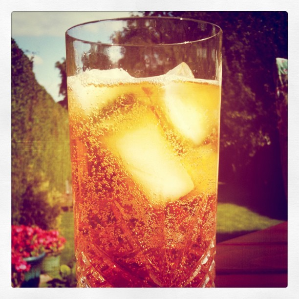 Pimms o'clock at the grandparents (Taken with instagram)