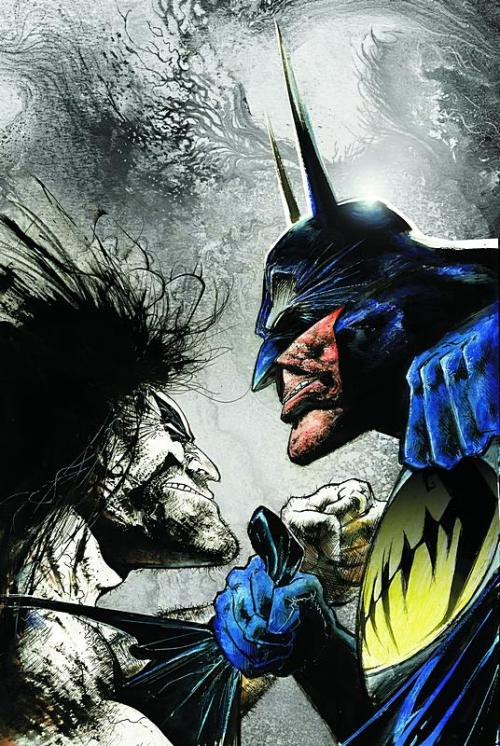 Lobo and Batman - by Sam Kieth