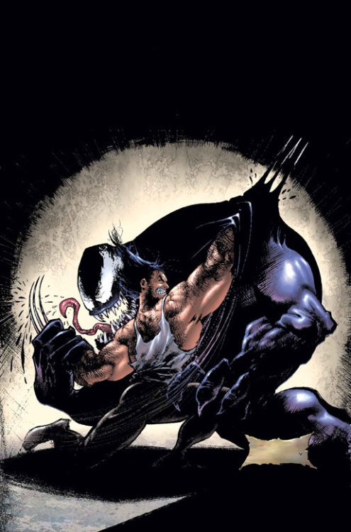 Wolverine vs Venom - by Sam Kieth