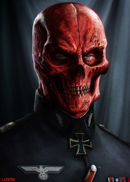 Red Skull, Captain America's formidable foe, gets a super realistic / Nazi-General style illustration by Dan LuVisi. Check it out full size here. Related Rampages: Venom | Boba Fett | Kick-Ass (More) Red Skull by Dan LuVisi (CGHUB) (deviantART) (Facebook) (Twitter)