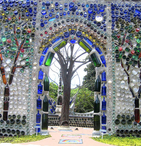 Bottle Chapel at the Airlie Gardens near Wilmington, North Carolina.