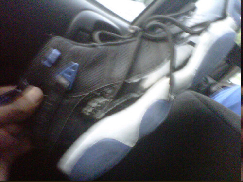 This guy had tha nerve to wear busted sneakers nd try to joke#fail
