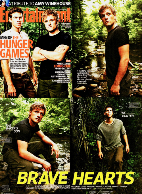 lifesmorepainlessforthebrainless:  EW: The Men of The Hunger Games