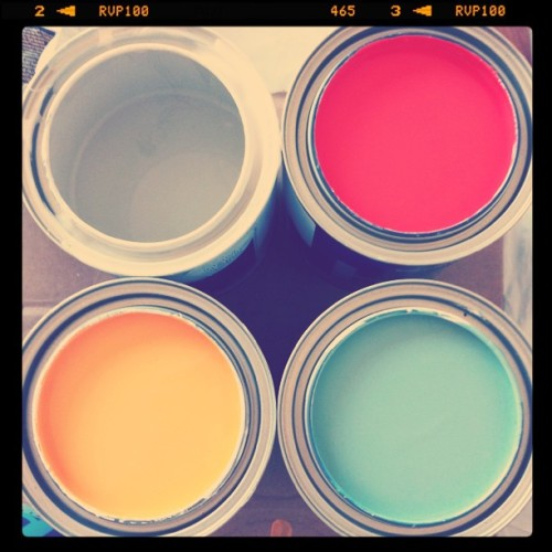 Preview of our apartment's new color palette (Taken with instagram)