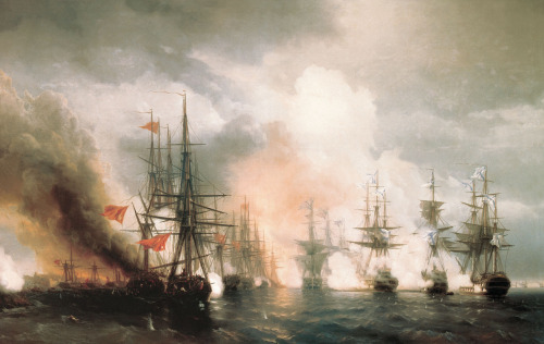 salgasm:  The Battle of Sinop, by Ivan Aivazovsky.