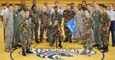 """Aiming high with BRONCO PRIDE"" FSU detachment 607!!"