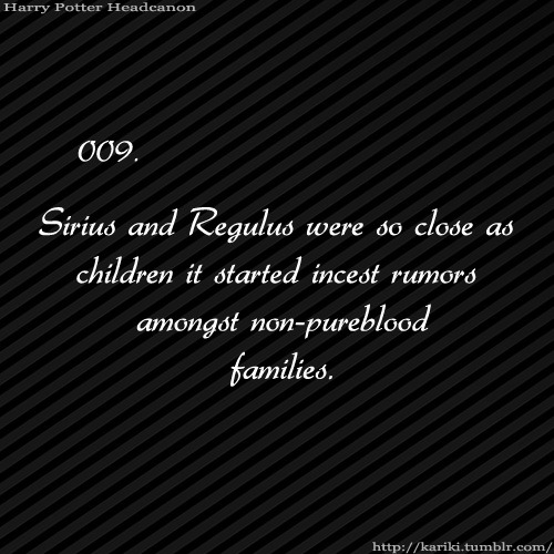 It didn't help that the Black Family had a history of it.  Sirius, having been raised to not think twice about such things, didn't find out about how other people saw it until he was in Hogwarts.  James eventually pulled him aside and told him why he was getting such odd looks. When the way Sirius treated him started to change, Regulus just thought it meant Sirius didn't love him anymore.