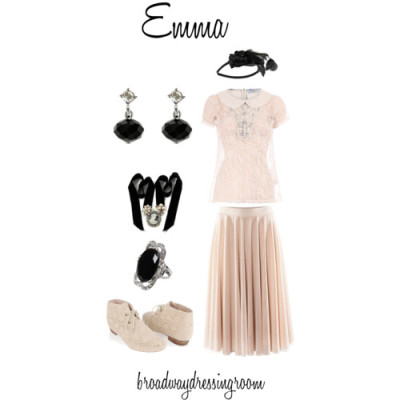 Emma by broadwaydressingroom featuring diamante jewelryDorothy Perkins short sleeve top, £21H M mesh skirt, £20Forever21 front lace boots, $27Rosie Fox diamante jewelry, £18Earrings, £15Cameo pearl necklace, £8.95Daytrip floral hair accessory, $9.95