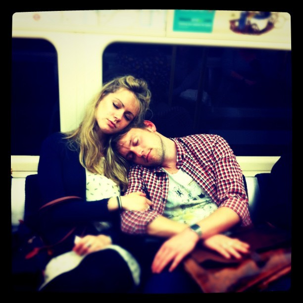 Late night on the tube (Taken with instagram)