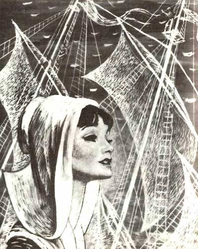 illustration for the novel 'scarlet sails' by alexander grin. savva brodsky