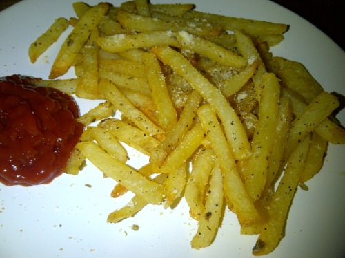 I made garlic, parmesan and oregano fries.