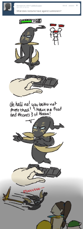 asktheleague:  You've done this. Don't deny it. (I'm sorry, Noc.)