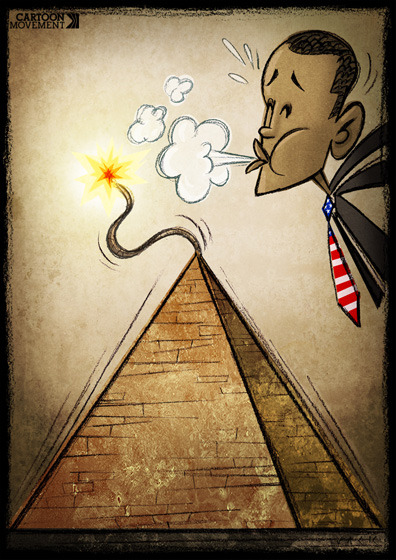 #OBAMA #EGYPT #Jan25 :After waiting to see what would happen, the United States (a longtime supporter of the Mubarak regime) is now urging Mubarak to step down in an attempt to control the situation in Egypt.04 Feb 2011