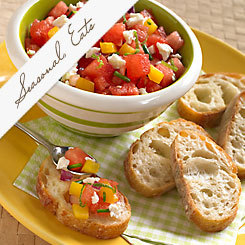 Seasonal Eats: Watermelon Bruschetta Appetizer