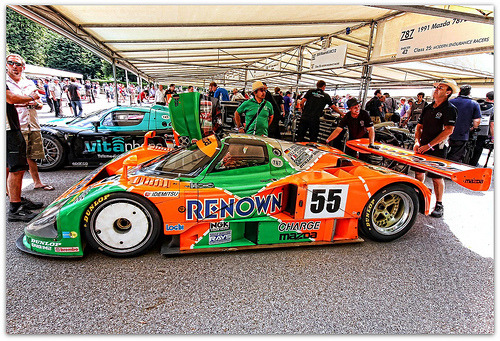 Supersonic flights departure gate Starring: '91 Mazda 787B  (by Antsphoto)