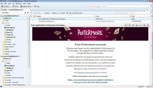 Registered for Pottermore! Woohoo!!