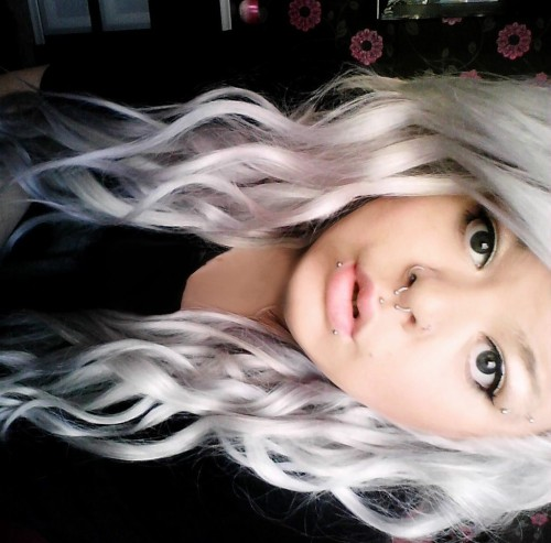 White/silvery lilac colour…. which was a mistake but a good mistake :) submitted by: http://soundsofbodiescrashing.tumblr.com/