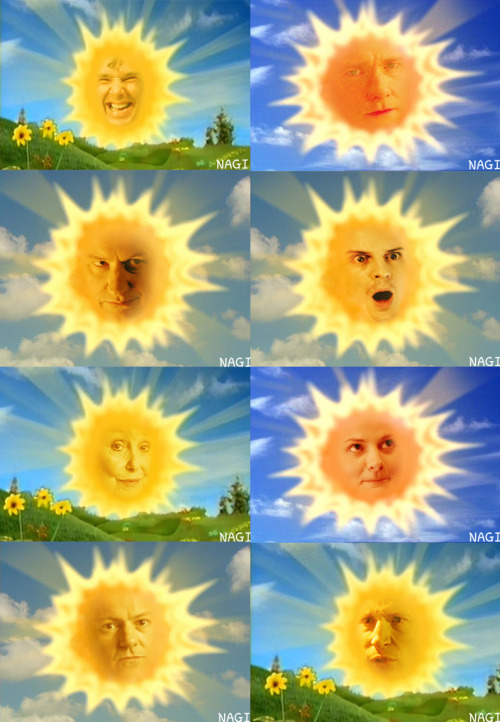 marielikestodraw:  nagiins:  A Set of the SUNs in Sherlotubbies :D What a lovely cast!  Wha…