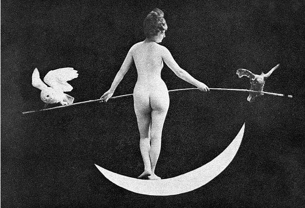 muscavomitoria:  NUDE ALLEGORY, 1890s, 'Night'  by an unidentified American photographer