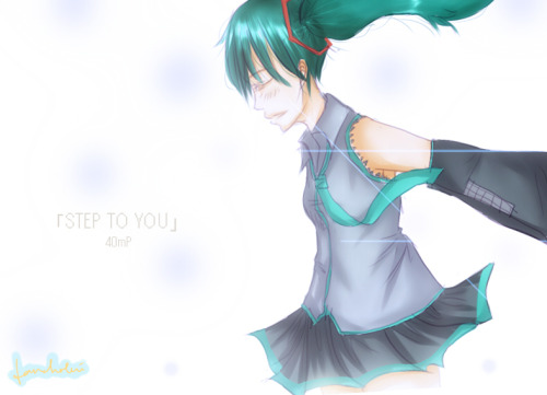 step to you - 40mP feat.hatsune miku, actually i listen to DECO*27 and mirto version     today i ate grilled salmon with lemon butter sauce for lunch , yumm