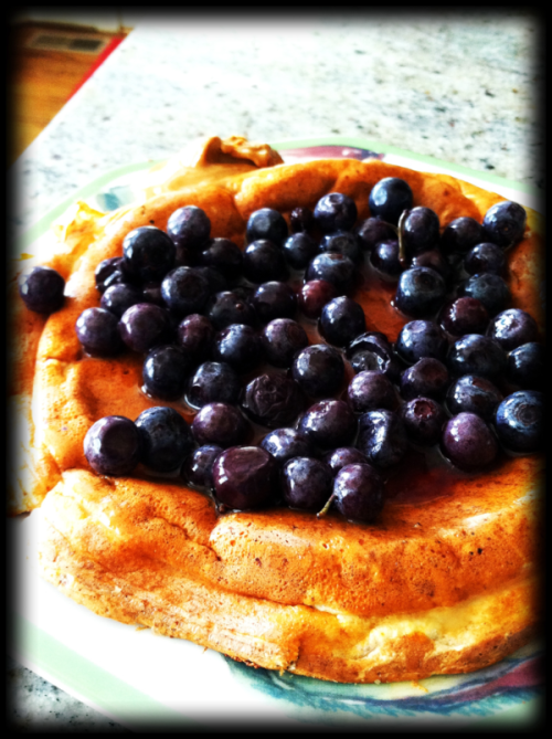 3 Ingredient, 5 Minute Protein Pancakes - Delicious Ingredients: 1 scoop vanilla protein powder 1/4 cup egg whites 1/4 cup cottage cheese Optional but makes it better: cinnamon Add ons: fruit (my favorite to add is blueberries and strawberries) syrup  nut butter (i use almond butter) The cottage cheese makes these pancakes fluffier and the egg whites act as a great binding agent.  All 3 ingredients are packed with protein.  If you don't like cottage cheese, don't worry you won't taste it at all. Cook over medium low heat and flip once the pancake is no longer runny Enjoy!