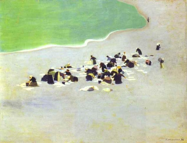 Washerwomen on Entretat 1899 Felix Vallotton