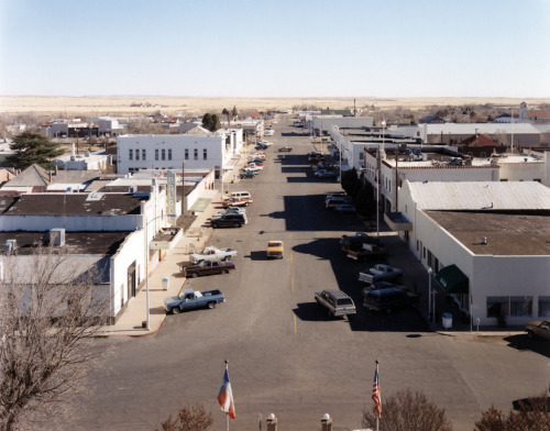 View from the Courthouse, Marfa, Texas, 1991, from On The Plains  Peter Brown