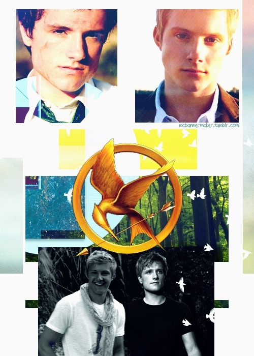 mcbannermaker:  Peeta and Cato-