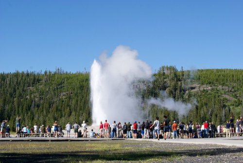 Blast from the past: 4K at Old Faithful in Yellowstone National Park
