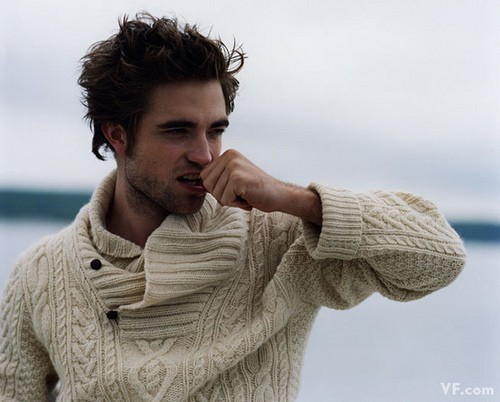 Robert Pattinson in an Aran jumper