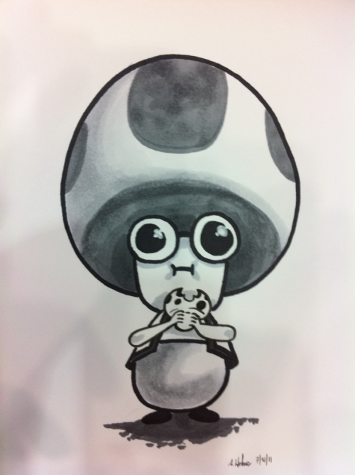 oktotally:  Yo dawg, I heard you like mushrooms- Otakon commission
