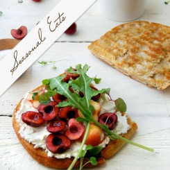 Seasonal Eats: Chèvre, Cherry, Arugula Panini