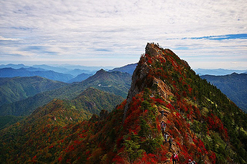 thought-emancipation:  red mountain by `futen photo …do you know shikoku island?…