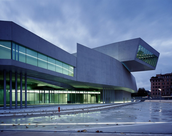 MAXXI National Museum of the XXl Century Arts in Rome Architect: Zaha Hadid