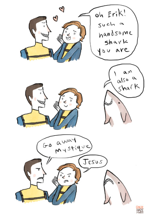 gingerhaze:   Apparently it's Shark Week? Seems like everyone's a shark these days.